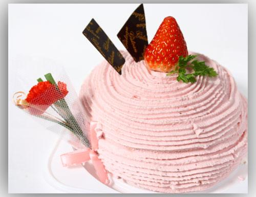 母の日苺モンブランケーキ